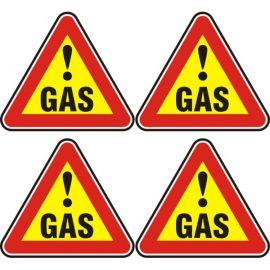 Знак газ, стикер 12x12