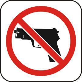 Забранено оръжие, стикер 12x12