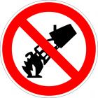 Забранено е гасенето с вода